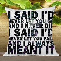 a day to remember I Said never let you go on Pillow Cover