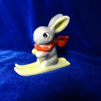 Vintage USSR Porcelain Figurine rabbit baranovka soviet 1950s russian antique