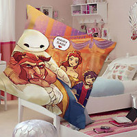baymax and beast hairy baby baymax  big hero 6 and beast  beauty an Pillow  Case