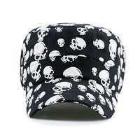 Skull Baseball Cap Cotton Casual Flat Hats