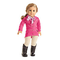American Girl® Clothing: Pretty Pink Riding Outfit for Dolls + Charm