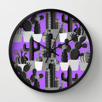 PLANTS ARE FRIENDS Wall Clock by Sara Eshak