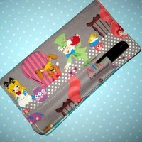 Fabric Checkbook cover Bifold Wallet pen holder made from Alice fabric | Nancym4 - Accessories on ArtFire