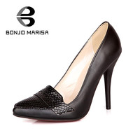 Sexy OL Style Women's Red Bottom Pumps Pointed Toe Leatherette Upper High Thin Heels Party Pumps Spring Office Pumps Shoes Alternative Measures