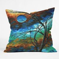 Madart Inc. Mystery Of The Moon Throw Pillow