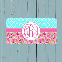 Lily Pulitzer Inspired License Plate-Monogram Car Tag Front License Plate Personalized Plate 121
