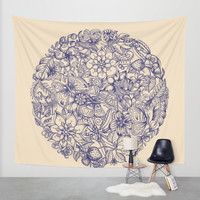 Circle of Friends Wall Tapestry by Micklyn