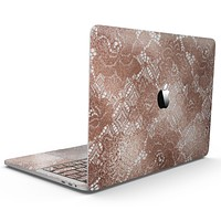 Rose Gold Lace Pattern 7 - MacBook Pro with Touch Bar Skin Kit