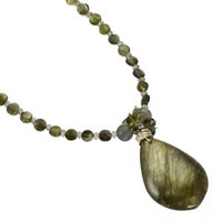Labradorite and Green Tourmaline Necklace by Kristin Ford Jewelry with Meaning | Whisperingtree.net