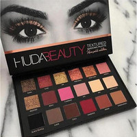 HOT Huda Beauty Rose Gold Palette Textured Shadows Palette & Xmas gift 18 Colors