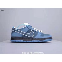 Nike SB Dunk Low x Concepts Joint Casual Casual Low Cut Casual Shoes Blue