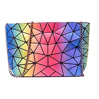 2020 new chain messenger bag fashion shoulder bag laser chain rainbow bag