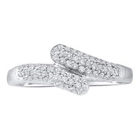 Diamond Fashion Ring in 14k White Gold 0.25 ctw