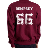 Dempsey 66 White Ink on Back Greys Anatomy Unisex Crewneck Sweatshirt