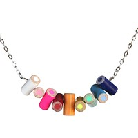 Colored pencil horizontal necklace