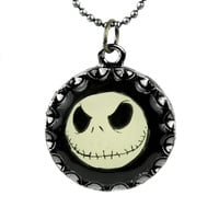 Jack Skellington Face Necklace Nightmare Before Christmas