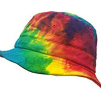 REACTIVE RAINBOW DYE BUCKET HAT