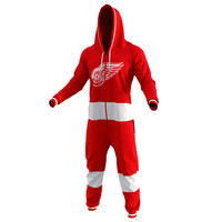 Detroit Red Wings Red Hockey Jersey Pajamas