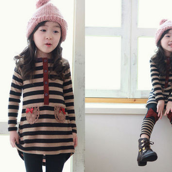 Clothing Set Lace Striped
