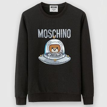 Trendsetter Moschino Women Man Fashion Casual Scoop Neck Sweater