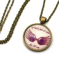 Luna Lovegood, You're Just As Sane As I Am, Spectrespecs, Harry Potter Necklace