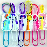 MLP Bookmarks - My Little Pony - Large Paperclip - Party Accessories - MLP Collectables - Paperclip Bookmark - Pinkie Pie - Rarity - MLP