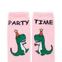 Party Time Print Ankle Socks