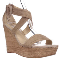 Marc Fisher Haely Espadrille Wedge Sandals - Light Natual