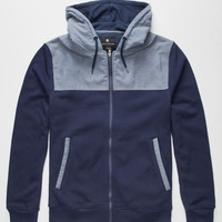 Shouthouse Mesa Mens Zip Hoodie Navy  In Sizes