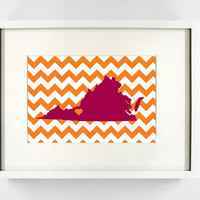 Virginia Tech Glicée Print - 8x10 - Go Hokies