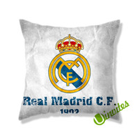 Real Madrid CF Logo Square Pillow Cover