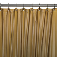 """Royal Bath Extra Heavy 8 Gauge Vinyl Shower Curtain Liner with Metal Grommets (72"""" x 72"""") - Gold"""