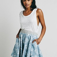Free People Womens Coconut Grove Print Skirt