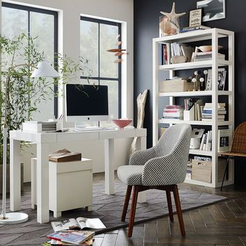 Parsons Desk with Drawers - White