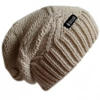 Winter Hat for Women Slouchy Beanie Chunky Knitted Hat Frost Hats M-113NF:Amazon:Clothing