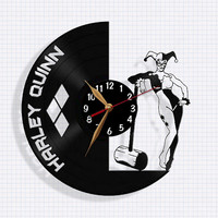 Harley Quinn Clock - Vinyl Record Wall Clock / Wall Watch