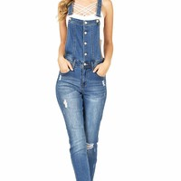 Bolted Skinny Overalls