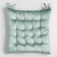 Jadeite Velvet Chair Cushion