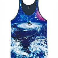 justanother.co.uk. Imaginary Foundation Clothing: Imaginary Foundation Edge Of Tomorrow tank top vest in blue