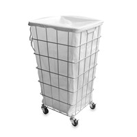 Wire Frame and Drawstring Laundry Hamper