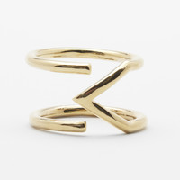 Gold Arrow Outline Ring