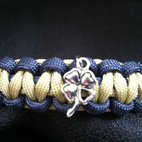 Notre Dame Paracord Bracelet with Clover Charm (custom size)