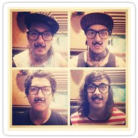 Pierce The Veil with Mustaches!