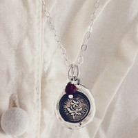 Forget Me Not Victorian Wax Seal