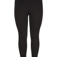 Plus Size - The Skinny Knit Pant In With Elastic Waist - Black