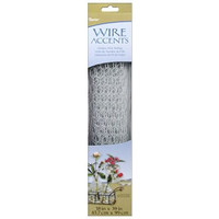 Darice 6614-102 Galvanized Chicken Wire Net for Craftwork, 18 by 39-Inch, Painted White