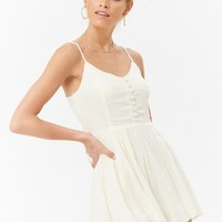 Pleated Cami Romper