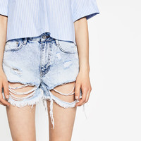 RIPPED DENIM SHORTS - NEW IN-TRF-COLLECTION AW16 | ZARA United States