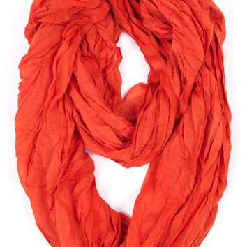 Essential Orange Infinity Scarf