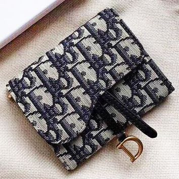 DIOR New fashion more letter leather wallet purse women